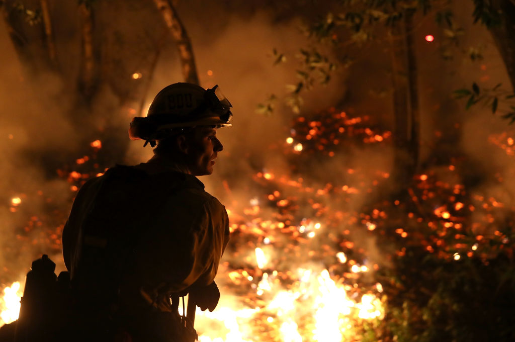 California wildfire fire